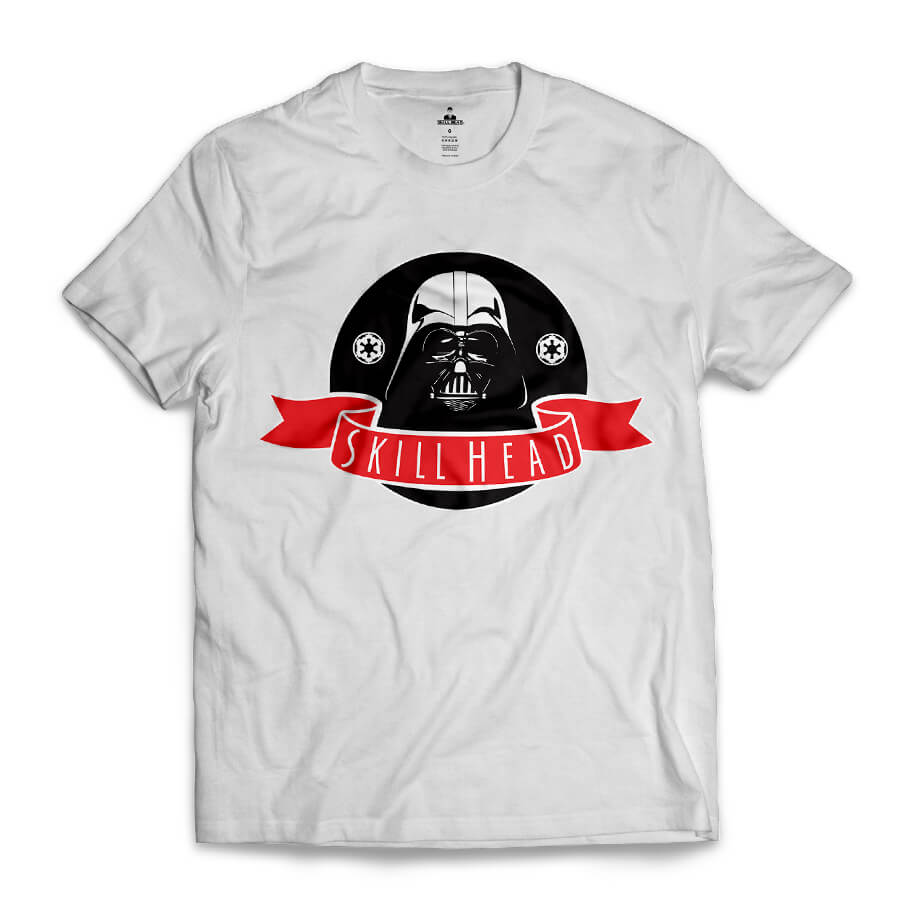 Camiseta Skill Head Darth Skill Vader Branco