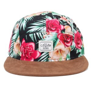 Boné Cayler And Sons Five Panel Strapback Awesome Floral/Marrom
