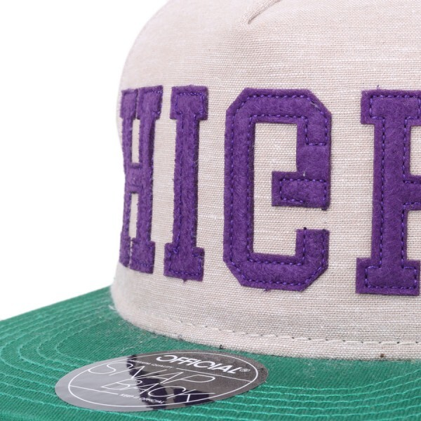 Boné Official Snapback High Bege/Verde