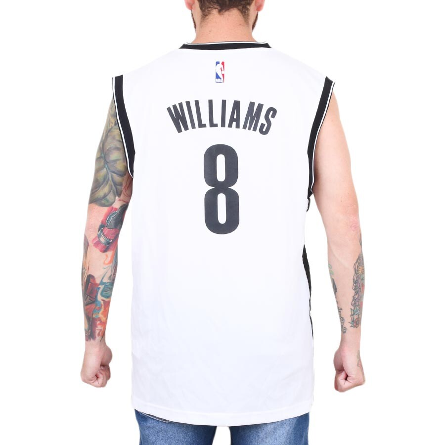 Camiseta Adidas NBA Regata Brooklyn Nets Deron Williams Branco