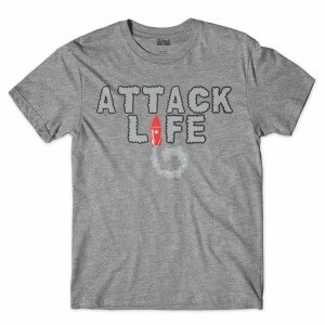 Camiseta Attack Life Rocket Cinza