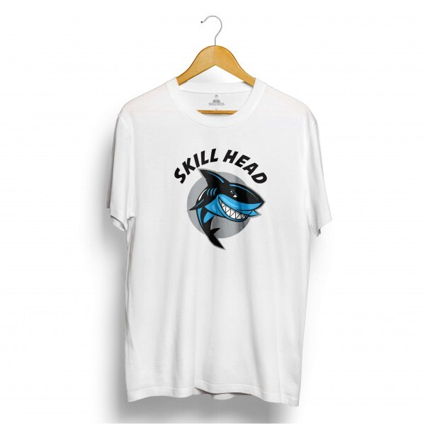 Camiseta Skill Head Tubarão Assassino Branco