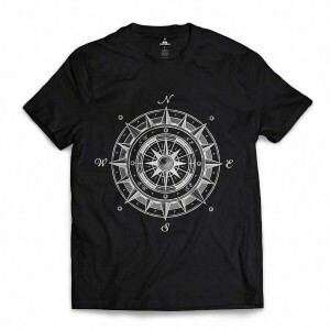 Camiseta Skill Head Wind Rose Preto