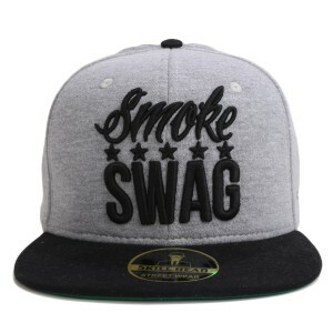 Boné Skill Head x Mr Thug Snapback Smoke Swag Five Stars Cinza/Preto