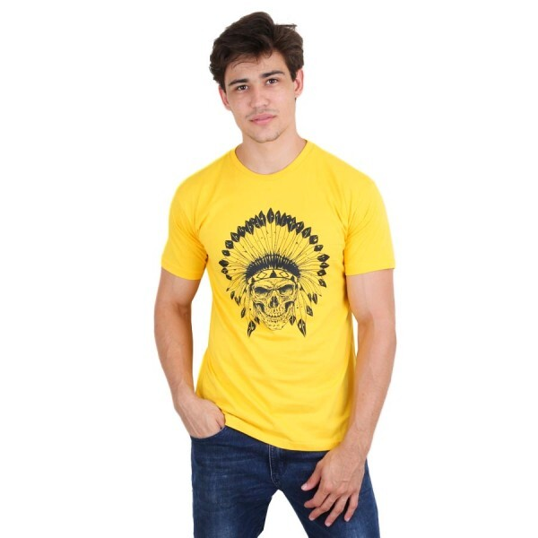 Camiseta BSC Indian Skull Amarela