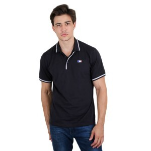 Camiseta New Era Polo MLB Logo Preto