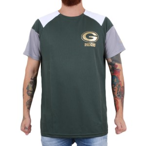 Camiseta New Era Green Bay Packers Raglan Verde