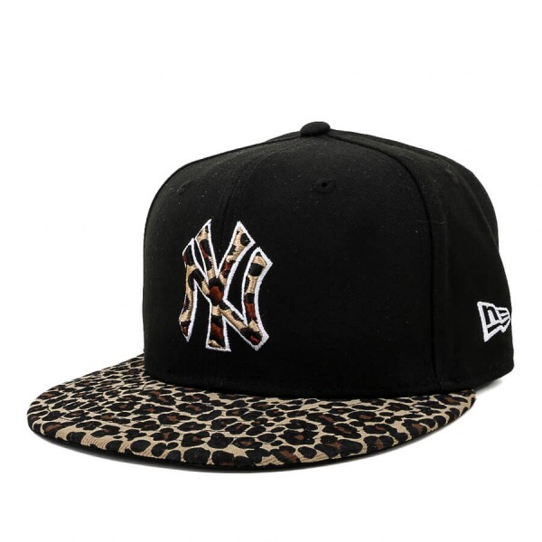 Boné New Era 9Fifty Snapback New York Yankees Preto/Onça