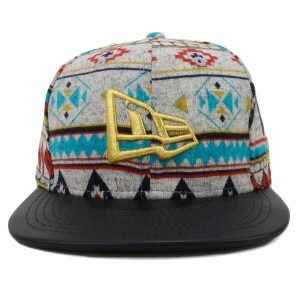 Boné New Era 9fifty Original Fit Snapback Logo Multicolorido/Preto