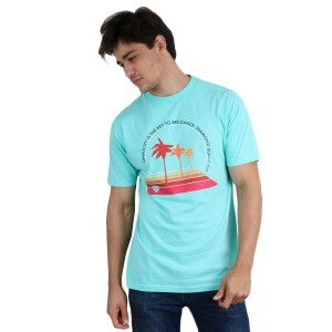 Camiseta Diamond Supply Co Palm Vibes Azul