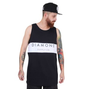 Camiseta Diamond Supply Co Regata Yacht Preto/Branco