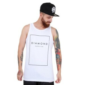 Camiseta Diamond Supply Co Regata Boxed In Tank Branco