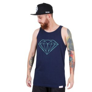 Camiseta Diamond Supply Co Regata Brilliant Tank Azul Marinho