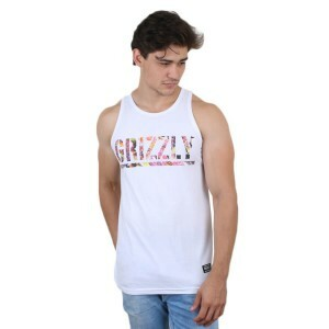 Camiseta Grizzly GripTape Regata T-Puds Fruity Peebles Branco