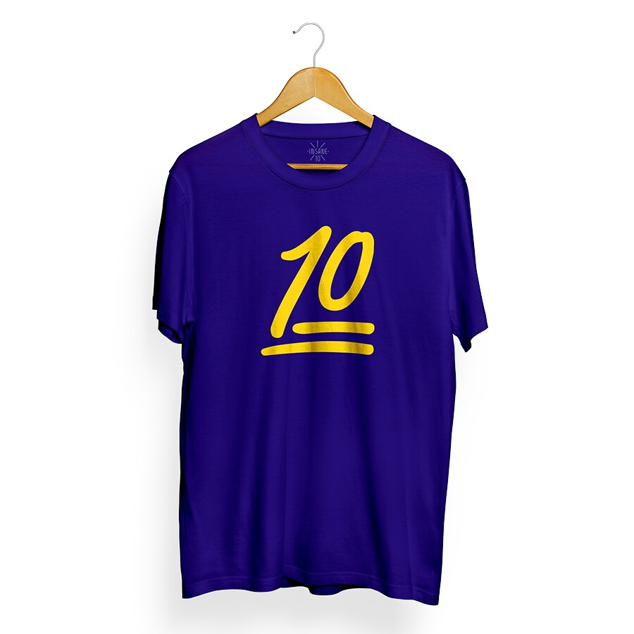 Camiseta Insane 10 Number Azul Royal