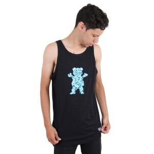 Camiseta Grizzly GripTape Regata Drops Og Bear Preto