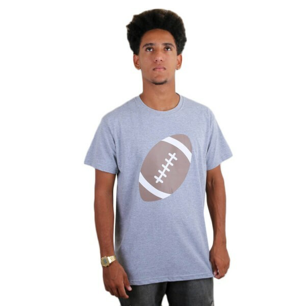 Camiseta Insane 10 American Football Emoji Cinza