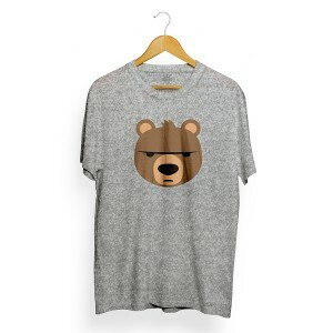 Camiseta Insane 10 Bear Emoji Cinza