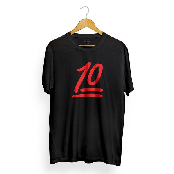 Camiseta Insane 10 Number Preto