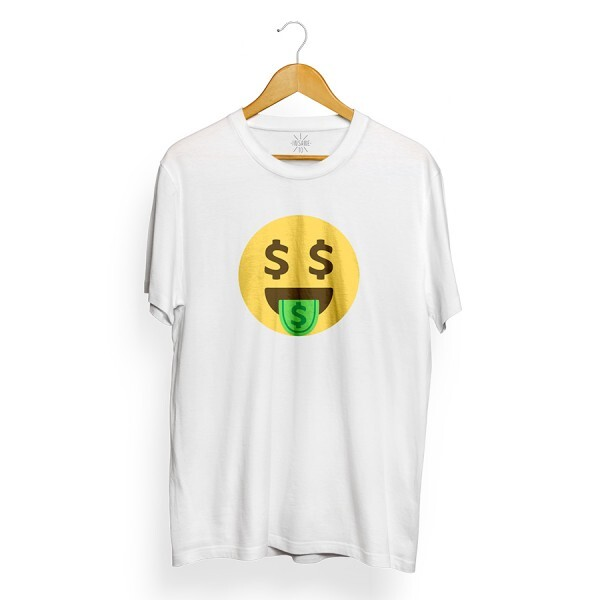 Camiseta Insane 10 Money Emoji Branco