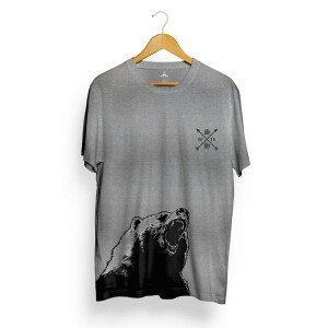 Camiseta Skill Head Bear Arrow Cinza