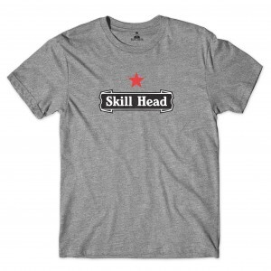 Camiseta Skill Head Drink Star Cinza