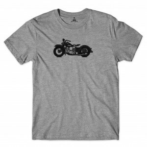 Camiseta Skill Head Motorcycle Cinza