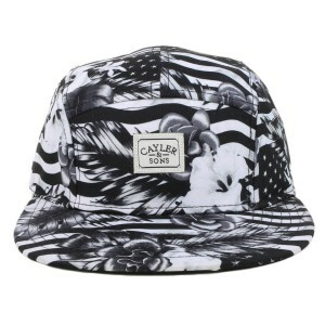 Boné Cayler And Sons Five Panel Flagged Preto/Branco