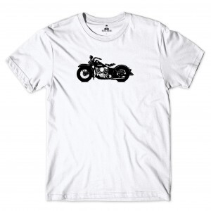 Camiseta Skill Head Motorcycle Branco