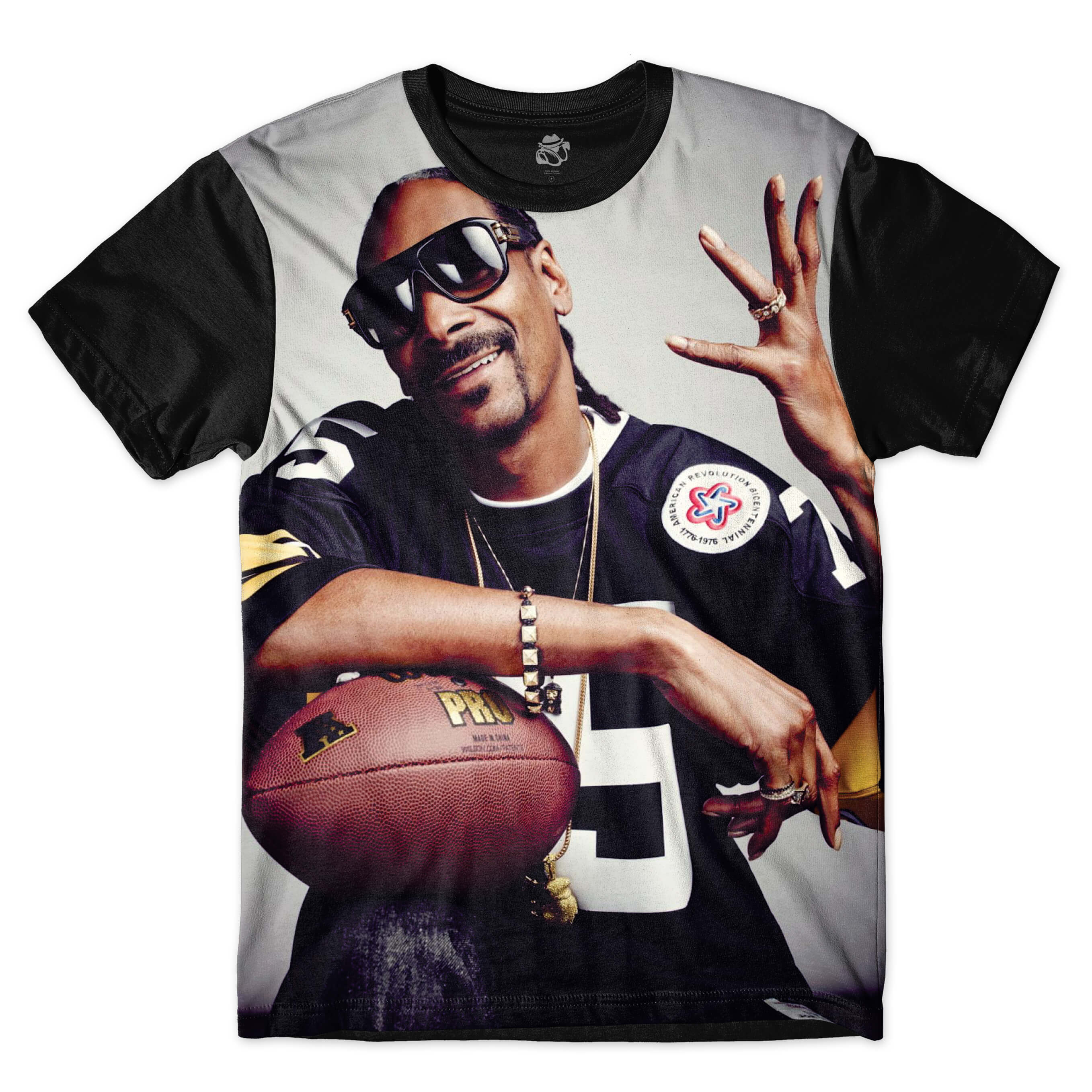 Camiseta BSC Snoop Dogg Full Print Preto