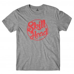 Camiseta Skill Head Circle Cinza
