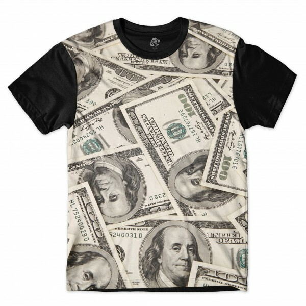 Camiseta BSC Make Money Full Print Preto