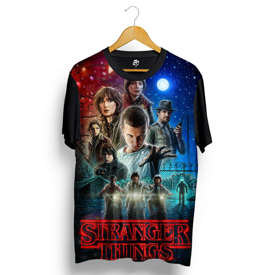 Camiseta BSC Stranger Things Sublimada Preto