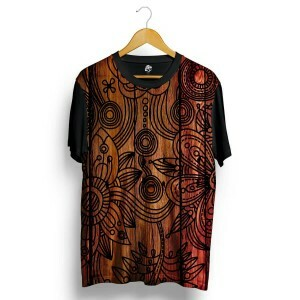 Camiseta BSC Wood Full Print Preto