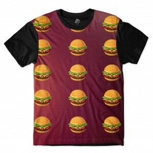Camiseta BSC Hamburger Full Print Preto