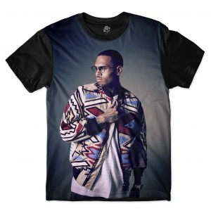 Camiseta BSC Chris Brown Full Print Preto