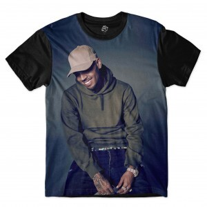 Camiseta BSC Chris Breezy Full Print Preto