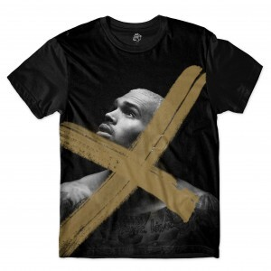Camiseta BSC Chris Brown x Sublimada Preto