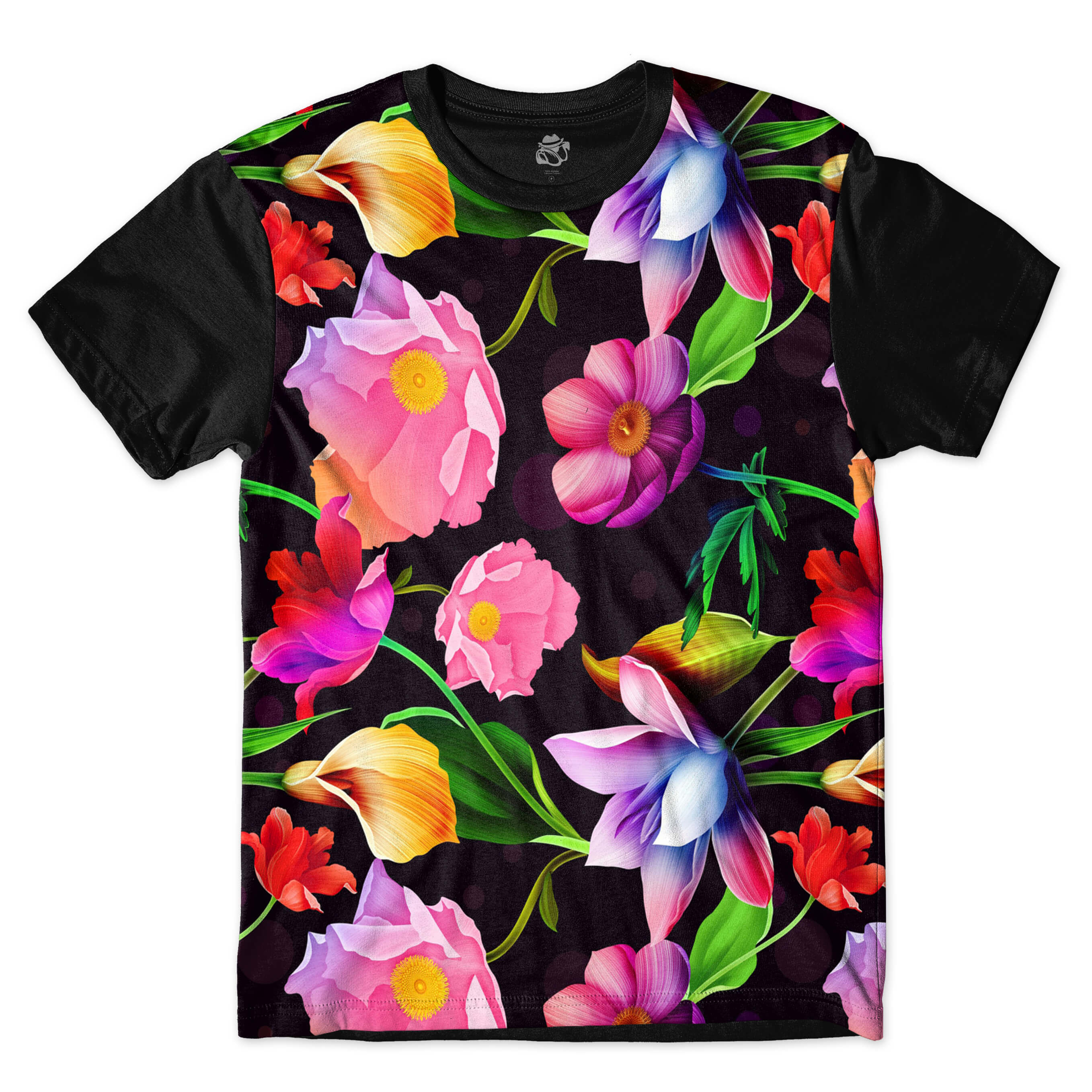 Camiseta BSC Flower Sublimada Preto