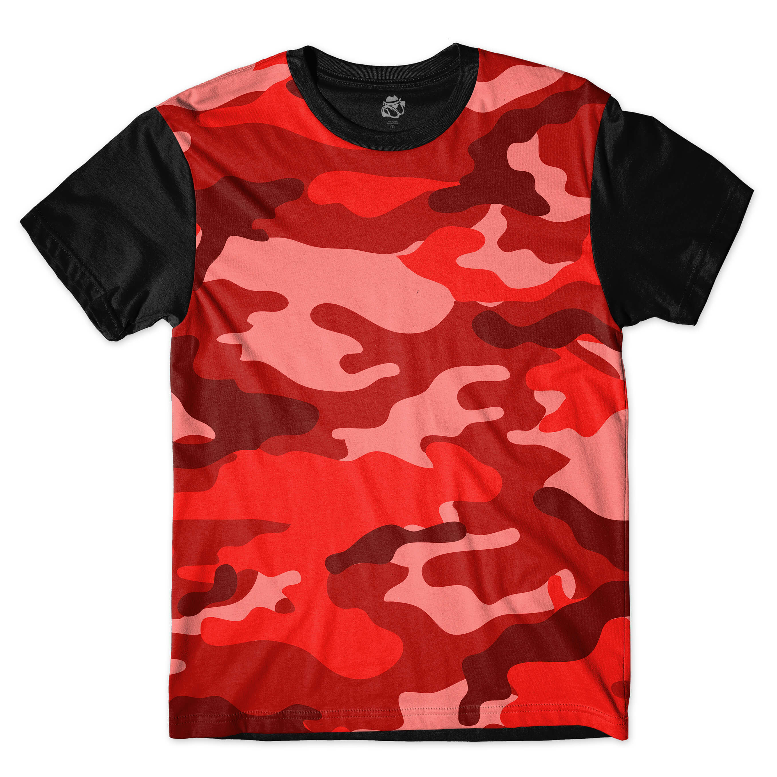 Camiseta BSC Camo Red Full Print Preto