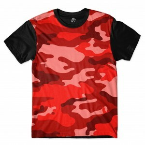 Camiseta BSC Camo Red Sublimada Preto
