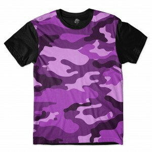 Camiseta BSC Camo Purple Sublimada Preto