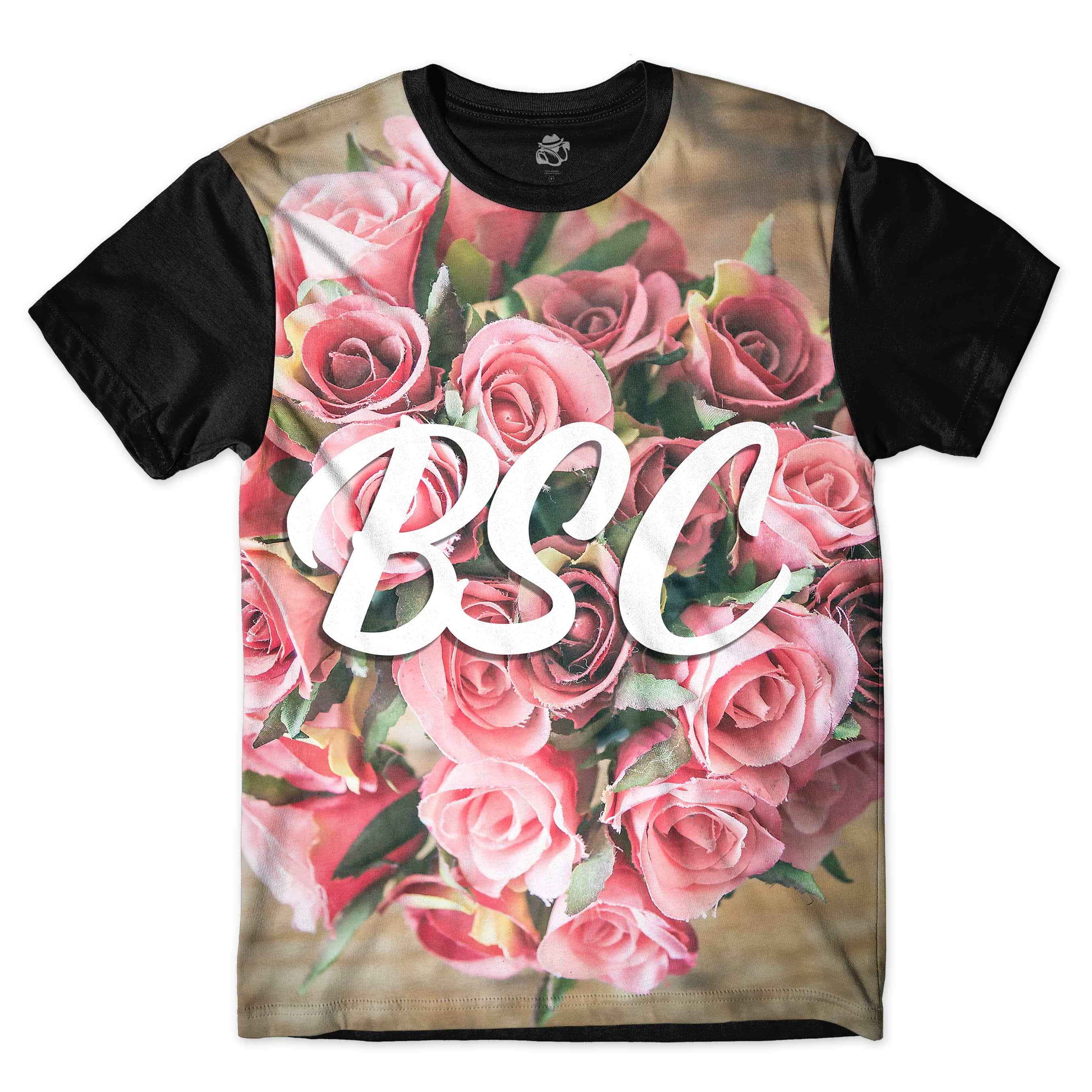 Camiseta BSC Bouquet of Flowers Full Print Preto