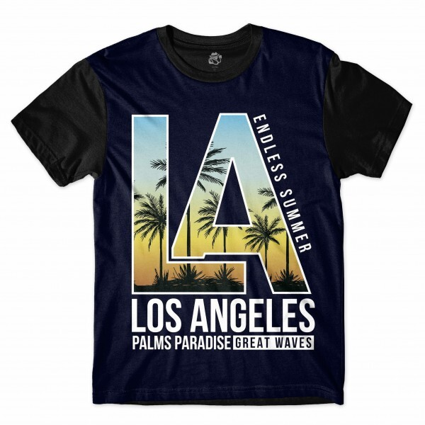 Camiseta BSC Los Angeles Sublimada Preto