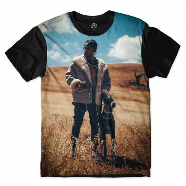 Camiseta BSC Travis Scott Full Print Preto
