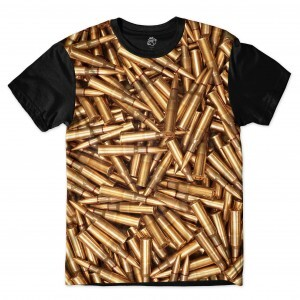 Camiseta BSC Rifle bullets Sublimada Preto