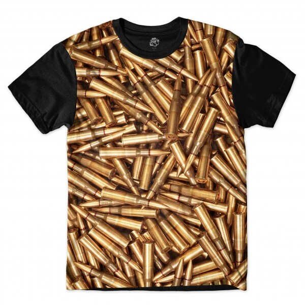 Camiseta BSC Rifle bullets Full Print Preto