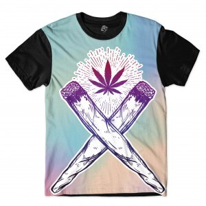 Camiseta BSC Marijuana Based Full Print Preto
