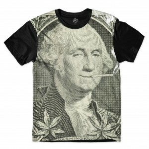 Camiseta BSC George Washington Kush Full Print Preto