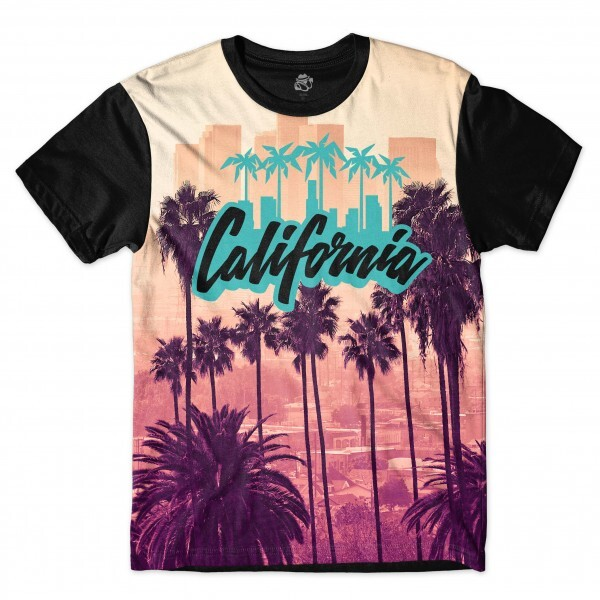 Camiseta BSC California Full Print Preto